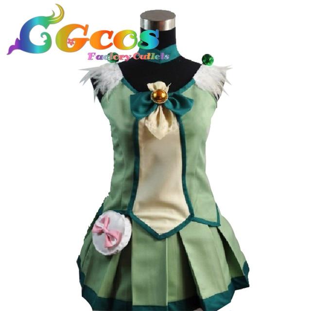 Cgcos Бесплатная доставка Косплэй костюм Улыбка Довольно Cure midorikawa НАО новый в наличии Хэллоуин для рождественской вечеринки форма
