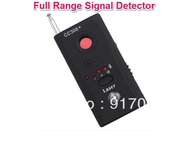 CC308 Wireless Full-range Camera Bug Monitor Eavesdrop Detector 1 pcs full range multi function detectable rf lens detector wireless camera gps spy bug rf signal gsm device finder