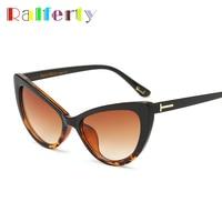 e8f973bb864 Ralferty Vintage Cat Eye Sunglasses Women Gradient Lens Tortoise Sunglass  Female Sun Glasses Frame Cateye Mulheres