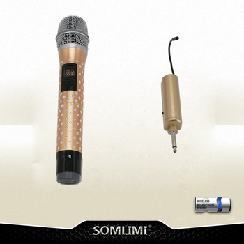 Wireless U segment FM a microphone home stage conference computer acoustics singing outdoor handheld microphone.