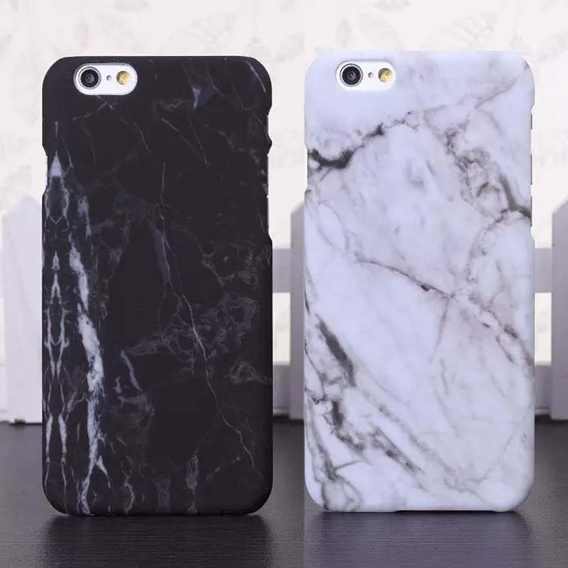 lack fashion marble phone cases for iphone 6 case marble stone image painted cover for iphone 6s 6 plus new screen protector in half wrapped case from