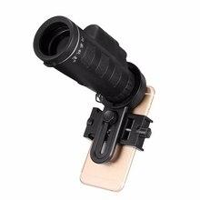 Buy online 10×40 Telescope Camera Lens Monocular + Mobile Phone Holder Clip Hiking Concert Universal for Samusng Xiaomi Smartphone Portable
