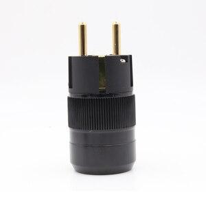 Image 5 - 2 stück stil 24k Gold überzogene EU stecker hifi schuko Power anschlüsse
