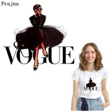 Prajna Fashion VOGUE Iron On Transfers For Clothing Stripes Thermal Stickers Clothes T-shirt Heat Transfer Vinyl Sticker DIY