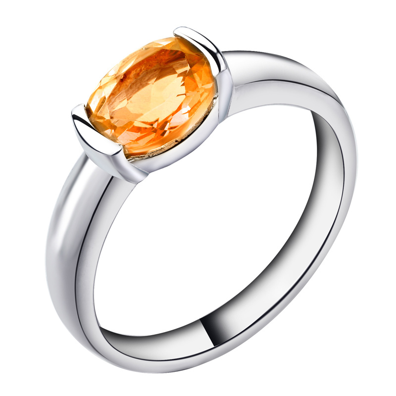Natural Citrine Ring 925 Sterling Silver Yellow Crystal Woman Fashion Fine Elegant Jewelry Girl Simple Birthstone Gift sr0073c все цены