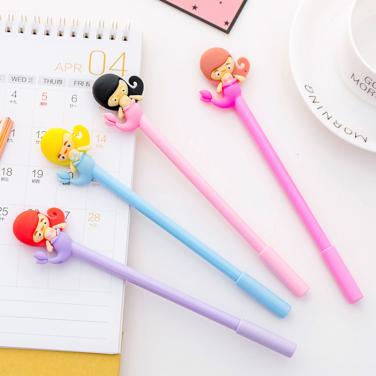 Pens, Pencils & Writing Supplies 1pcs Lovely New Cartoon Puppy Gel Pen Student Stationery Novelty Gift School Material Office Supplies