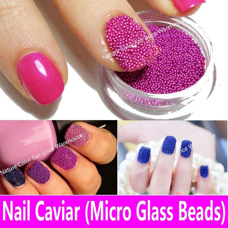 1 unidades de Caviar de Uñas en 20 Colores Micro Perlas De Vidrio 3d ...