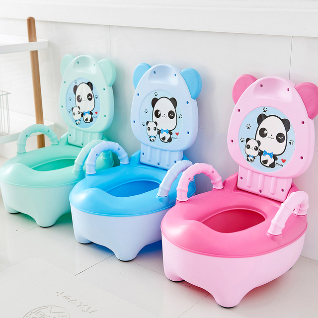 Baby Pot For Children Boys Potty Toilet Seat Baby Potty Training Girls Portable Toilets Bedpan Comfortable Backrest Cartoon Pots 2