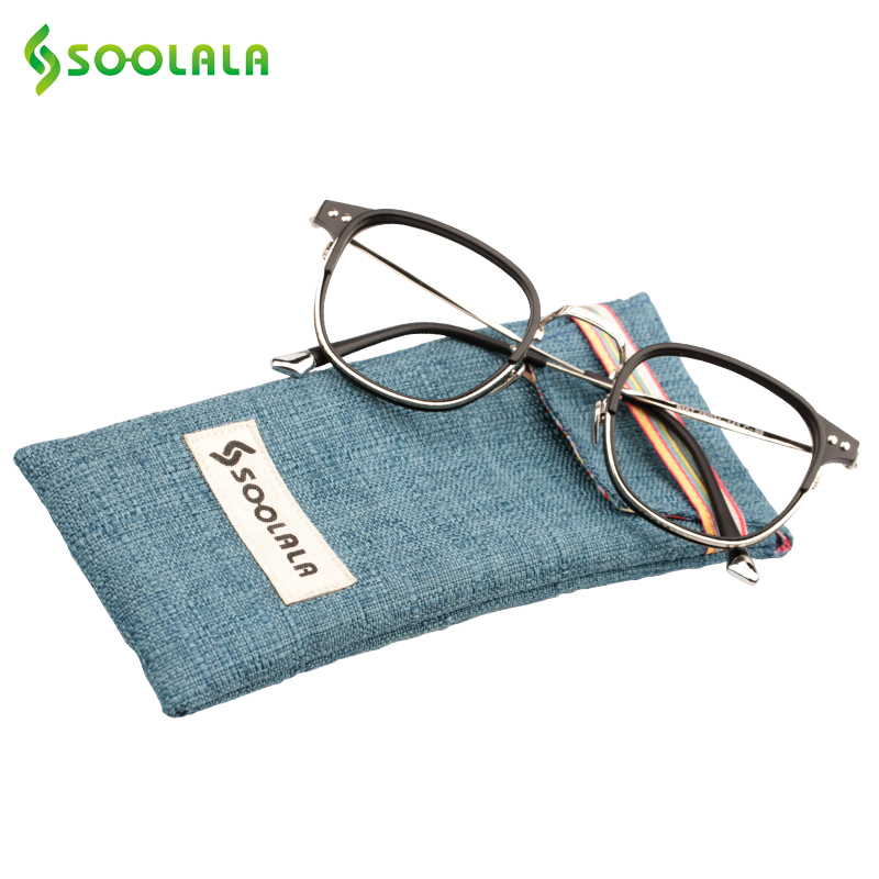 df5e2595b999 SOOLALA Womens Mens Semi rimless Reading Glasses Vintage Big Frame Reading  Glasses +0.5 1.0 1.5 2.5 to 4.0 4.5 5.0-in Reading Glasses from Women s  Clothing ...