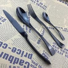 black western food dinnerware  Steak knife and fork spoon   stainless steel tableware Western knife and fork gift custom models