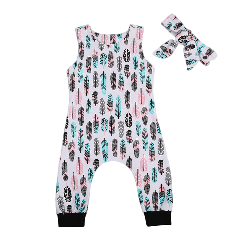 pudcoco Infant Baby Boy Girls sleeveless rompers summer ...