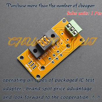 IC TEST TO-220 test socket TO220 Aging test socket Plug-transistor test seat(PCB) 10pcs l7812cv to220 l7812 to 220 7812cv new and original ic