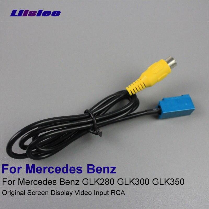 Liislee Original Video Input RCA Adaptér Konektor Drátový kabel pro Mercedes Benz GLK280 GLK300 GLK350 Pohled zezadu