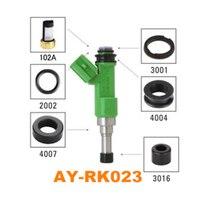 40pieces Sets AY RK 023 Auto Parts Fuel Injector Repair Kit Filter Plactic Part Seals O