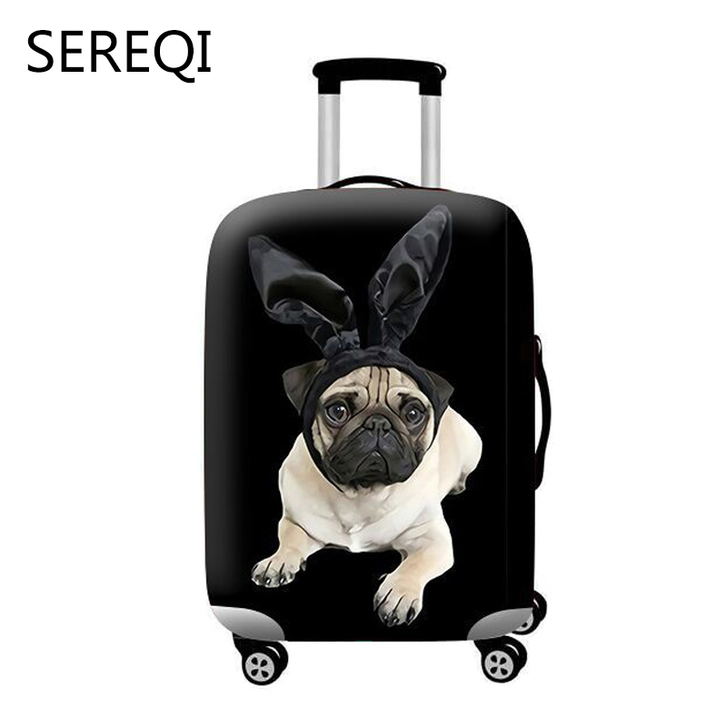Sereqi New Hot Elastic Cloth Luggage Cover For 18 32 Inch Trolley Case Luggage Dust Cover Travel Accessories Suitcase Cover