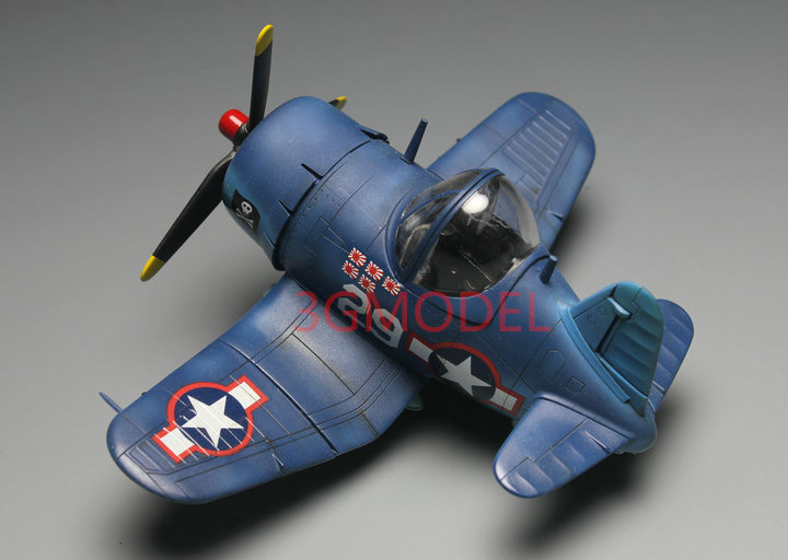 Model Building Kits  Assembly Airplane Fighter Model World War II Navy Corsair Fighter F4U Model DIY