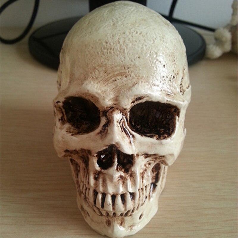 P-Пламя маленький череп Новый Хэллоуин украшения реквизит реалистичные террорист, чем человеческий череп смолы черепа украшения