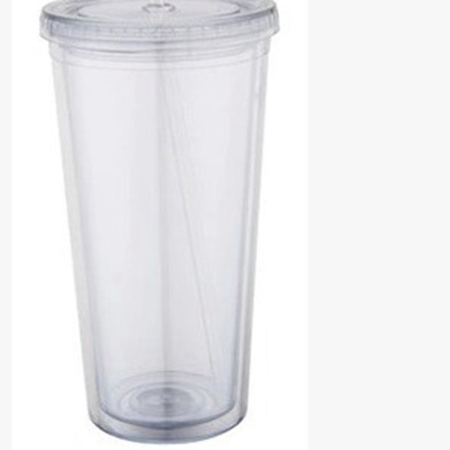 2015 China wholesale 16oz Double Wall Clear Plastic Tumblers with