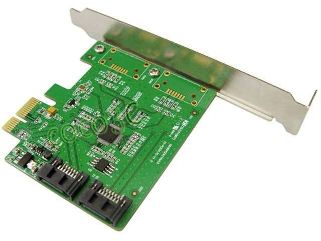 Marvell Chipset 2 Port SATA 6Gbps PCI Express Controller Card RAID 0 RAID1  + PCI-e to SATA 3 0 Support NCQ Port Multiplier FIS