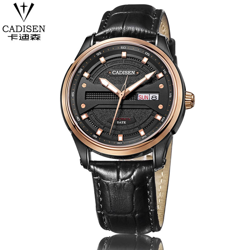 New Fashion Luxury Brand cadisen Men Watch Automatic Mechanical Watches Hollow Men Tourbillon Waterproof Wristwatch