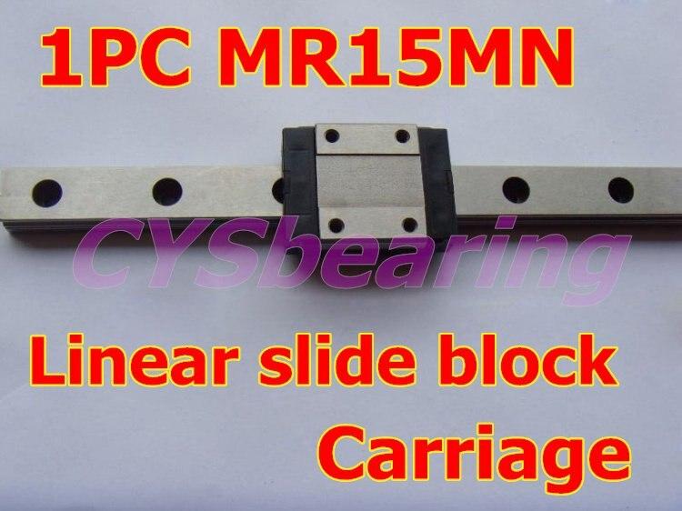 MR15MN блок скольжения, миниатюрный линейный опорный подшипник, линейная каретка для ЧПУ маршрутизатор XYZ стол