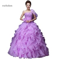 ruthshen Luxury Real Photo Vestidos Anos Quinceanera Dresses Sweeties 16 Dresses Beading Ruffle Quinceanera Gowns 2018 Ball Gown