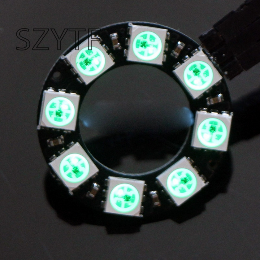 8bit WS2812 5050 RGB LED Smart Full-color RGB Lamp Ring Development Board-macro Ring