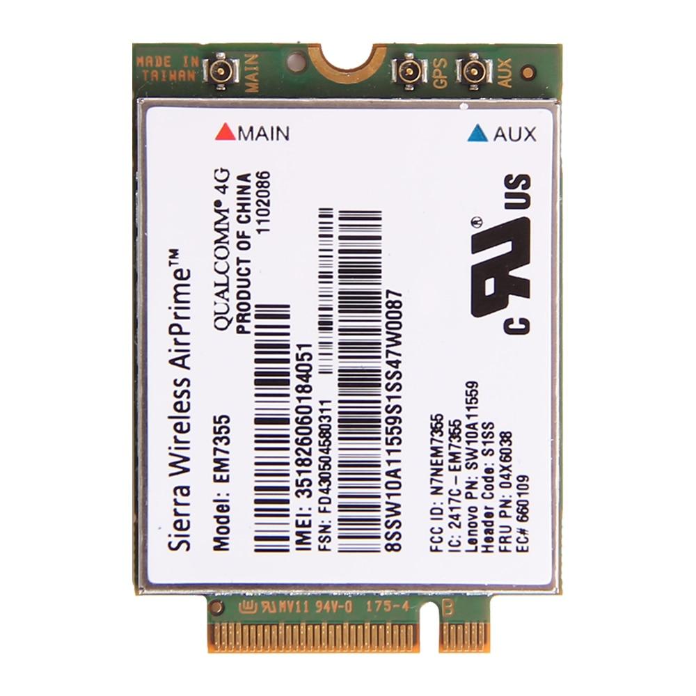 Sierra Gobi5000 EM7355 NGFF Card FRU: 04W3801 Wireless 4G LTE WWAN EVDO/HSPA Module for IBM Lenovo Thinkpad X240 T440 T440s L540 new unlock sierra wireless gobi5000 em7355 lte evdo hspa 42mbps ngff card 4g module for hp lt4111 wwan 704030 001 wcdma card