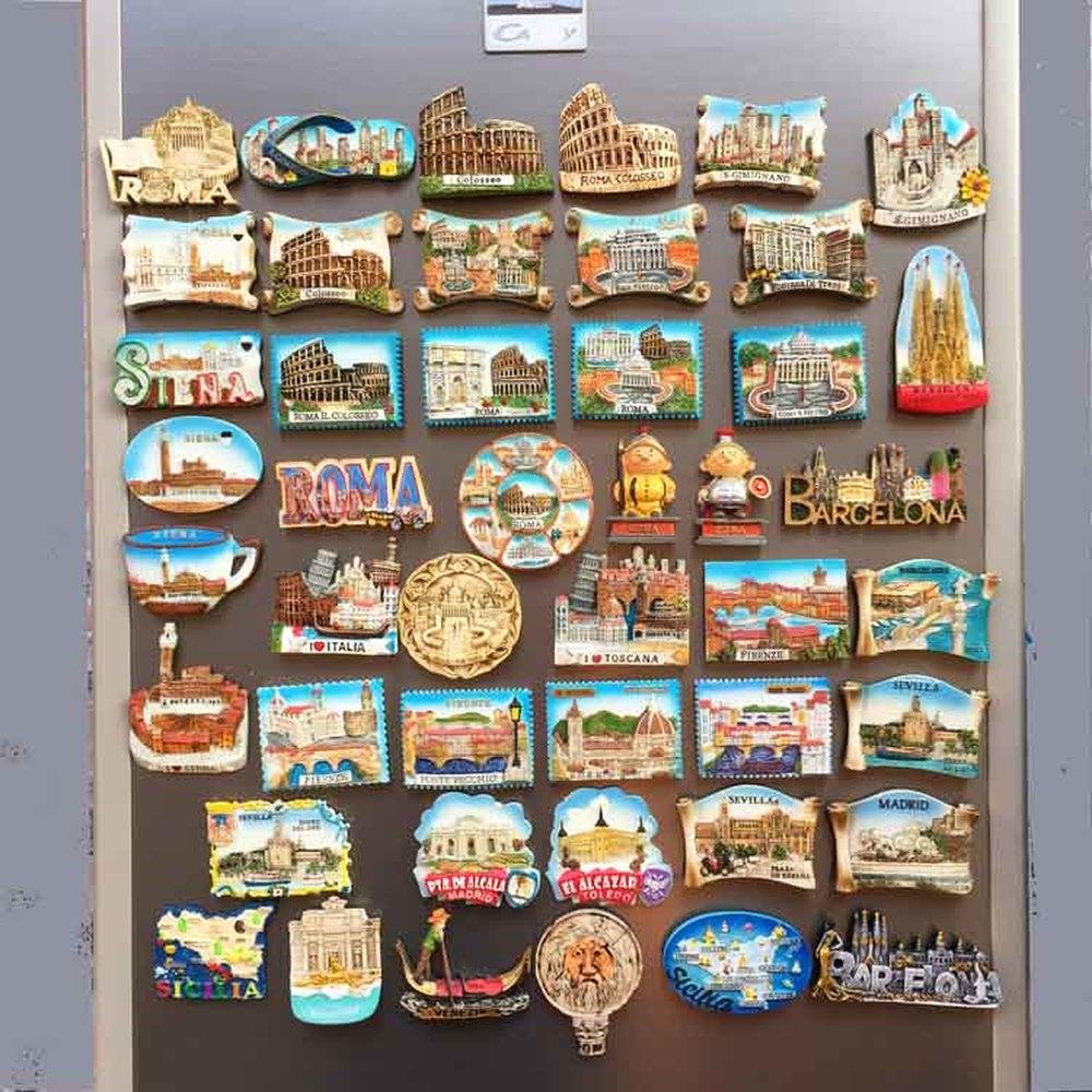 I Trulli di Alberobello Italy Tourist Travel Souvenir Resin Fridge Magnet GIFT