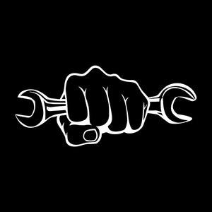 Image 2 - Autocollants personnalisés en vinyle pour moto, 17.7x7.9CM, clé mécanique pour tenir une clé, autocollants amusants noirs/argent C7 1737