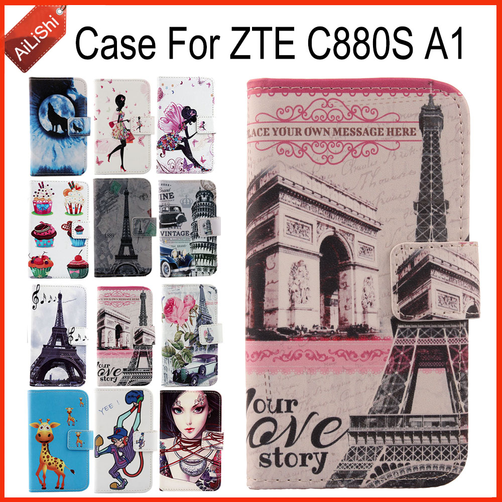 AiLiShi Hot!!! In Stock For <font><b>ZTE</b></font> <font><b>C880S</b></font> A1 Case PU Flip Luxury New Leather Case Exclusive 100% Special Phone Cover Skin+Tracking image
