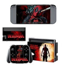 Film Deadpool Sticker Decal for NintendoSwitch Sticker Skin for Nintendo Nintendo Switch NS Console and Joy-Con Controller Vinyl