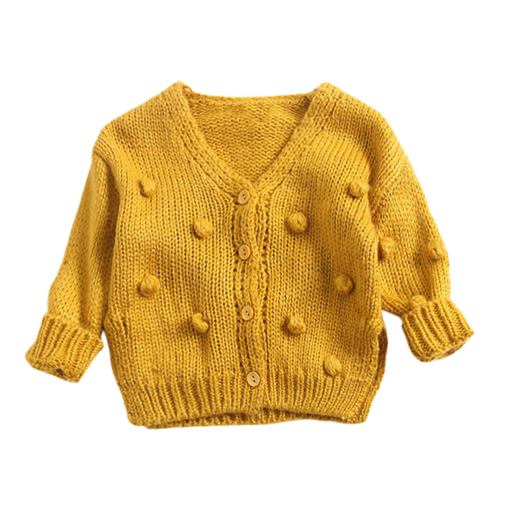 Objective Baby Kids Girl Boy Child Winter Warm Hairball Down Sweater Jacket Knited Tops Solid Cardigan Manteau Fille Casaco Menina 25