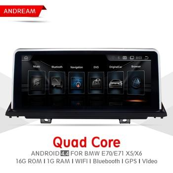 "10.25 ""4 ядра android Экран 4.4 автомобиль мультимедийный плеер для BMW E70 E71 X5 X6 Bluetooth GPS-навигации wi-fi ew969a-ccc"