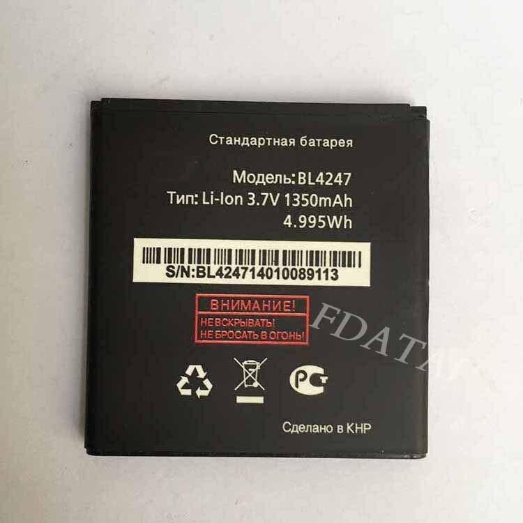 High Quality 3.7V 1350mAh <font><b>Battery</b></font> for fly <font><b>BL4247</b></font> <font><b>iq442</b></font> <font><b>IQ442</b></font> Mobile Phone <font><b>battery</b></font> Baterij Batterie for fly <font><b>iq442</b></font>