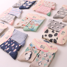 2 Pairs of Cute Animal Print Socks
