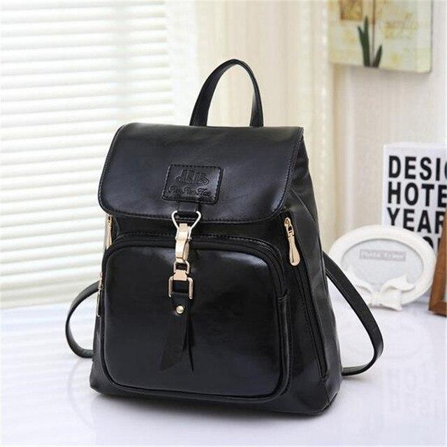 2016 Fashion School Bag PU Multi-purpose Portable Shoulder Messenger  College Wind Women PU Leather Backpack Girls 0246ae560dcbe