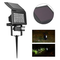The new solar lawn lamp household courtyard lamp outdoor LED lamp lamp can be inserted with Yang