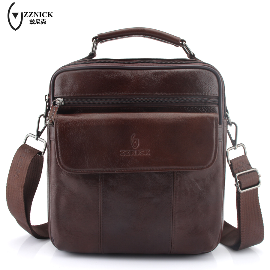 ZZNICK New Fashion Genuine Leather Man Messenger Bags Cowhide Leather Male Cross Body Bag Casual Men Commercial Briefcase Bag for 7 inch tablet lcd display wjws070087a fpc lcd screen module replacement 30 pin lwh 164 97 2 5mm