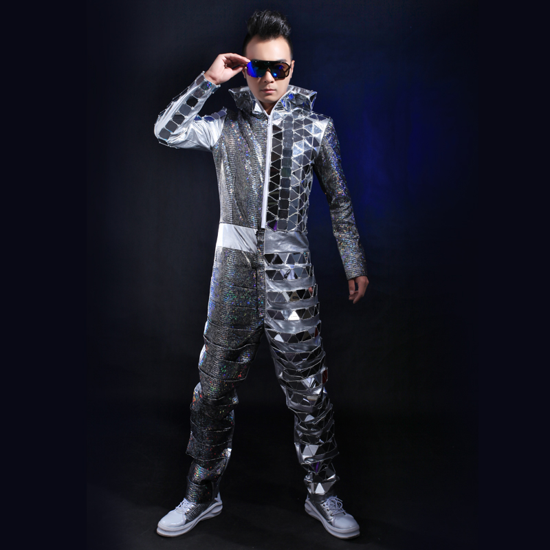 Online Buy Wholesale silver jumpsuit men from China silver ...