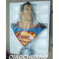 DC Comics Superman Statue Superher Clark Kent Bust 1:1 LIFE SIZE Justice League Kal El Full Length Portrait Resin Model Toy W232