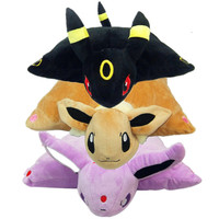 40*33cm Kawaii Black Umbreon Plush Toys New Eevee Umbreon Espeon Plush Pillow Cushion Warm Plush Stuffed Doll