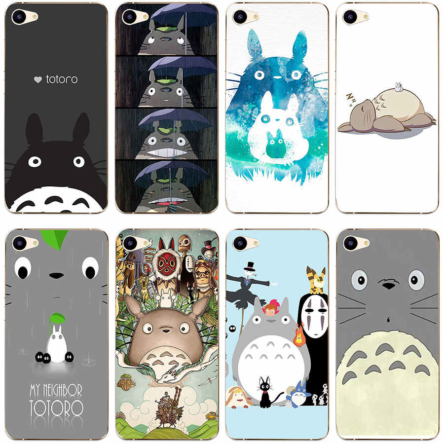 356GH Totoro Anime Transparent Cover Case for Meizu M2 M3 M3S M3 Mini M3S Mini M3 note M5 M5note U10 U20