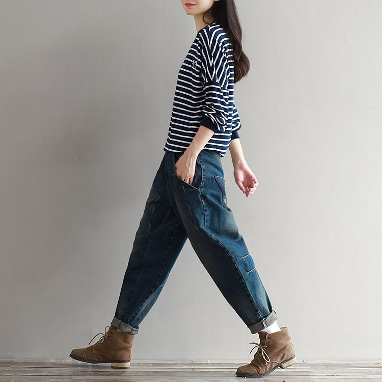 17 Winter Big Size Jeans Women Harem Pants Casual Trousers Denim Pants Fashion Loose Vaqueros Vintage Harem Boyfriend Jeans 14