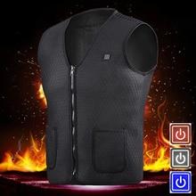 цена Men Women Outdoor USB Infrared Heating Vest Jacket Winter Flexible Warm Electric Thermal Clothing Waistcoat For Sports Hiking онлайн в 2017 году