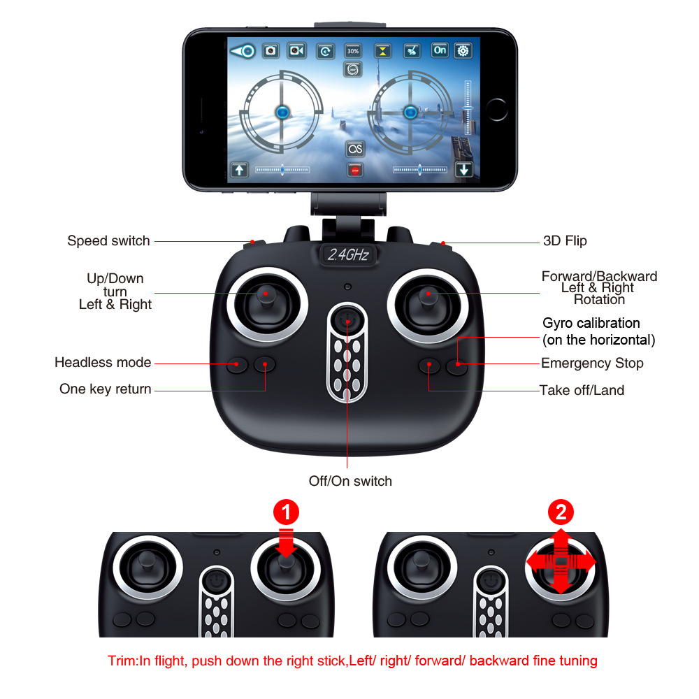 Image 3 - Folding drone Mini UAV WIFI aerial photography Fixed high Remote control Aircraft toys-in RC Helicopters from Toys & Hobbies