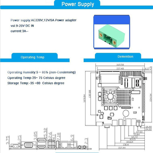 Image 3 - 핫 세일 메인 보드 인텔 코어 i7 3610QM CPU, 2 * PCI 슬롯 팬리스 미니 ITX 산업용 마더 보드, pos 터미널 용