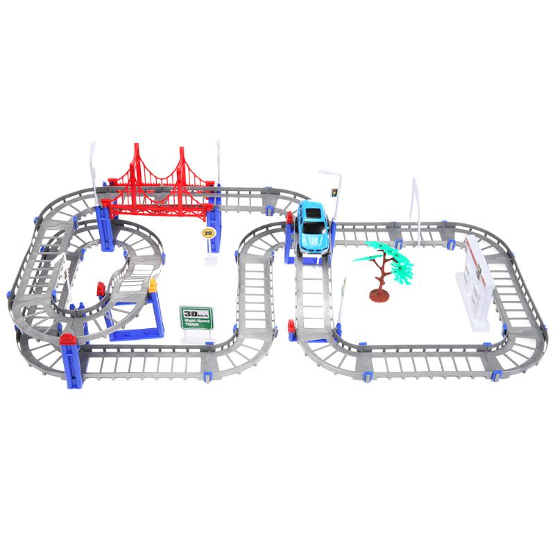 Funny Car Multi-layer Assembly Train Rail Car Track Electric Puzzle Vehicle Track Kids Educational Toys brinquedos Birthday Gift