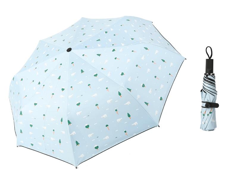 Three Folding Sunscreen Umbrella For Women Sunny Rainy Windproof Anti-UV Umbrella Women Lady Girls Folding Umbrellas (27)