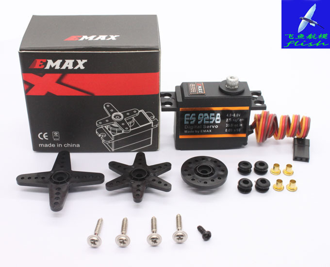 Free Shipping EMAX Model ES9258 RC Metal Digital Servo for 450 Helicopters Rotor Tail emax es3051 general plastic gear digital servo with bearing rc model spares